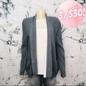 💖3/$30💖 89th & Madison Open Front Cardigan Grey